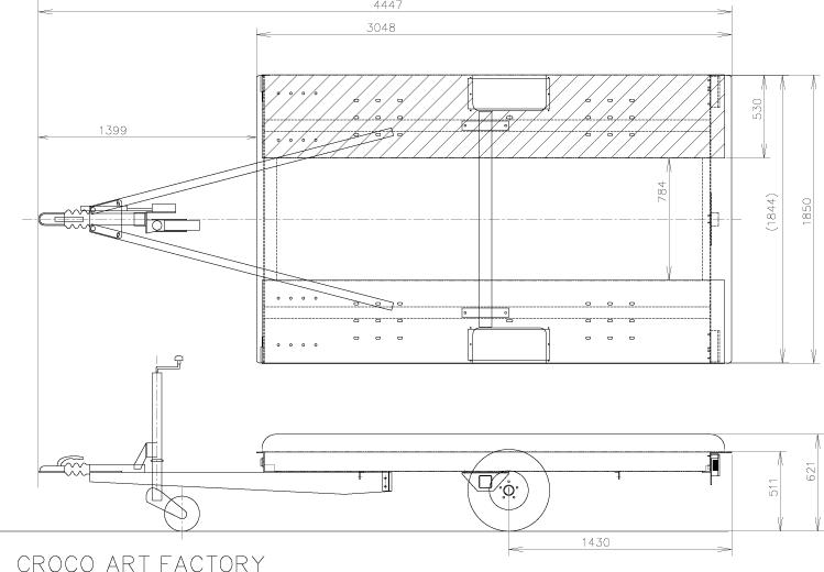 クロコアートファクトリー 車載トレーラー